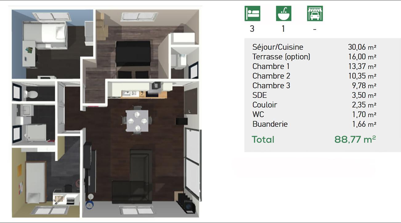 Saphir 81 m2