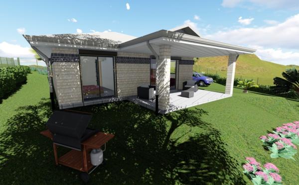 ASC vient de livrer une nouvelle Villa sur le Mont-Dore! C'est une jolie F4 SAPHIR BRIQUES de 86.00 m².